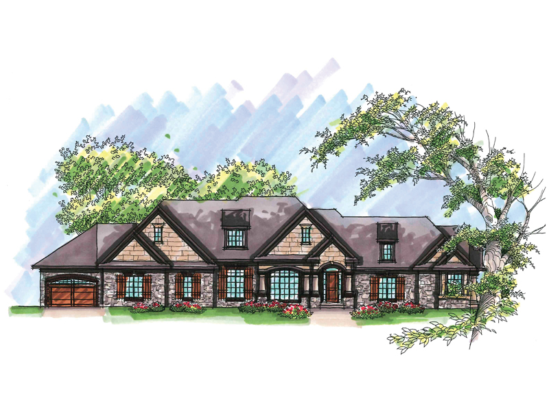 Ranch House Plan Front of Home - 051D-0646 | House Plans and More