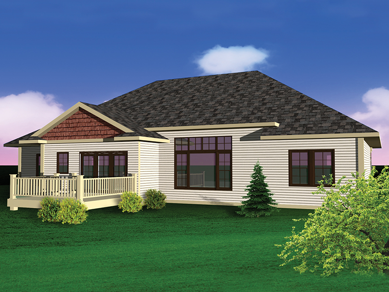 Ranch House Plan Rear Photo 01 - 051D-0652 | House Plans and More