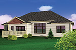 Craftsman House Plan Rear Photo 01 - 051D-0652 | House Plans and More