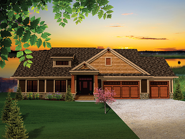 Montana Rustic Craftsman Home Plan 051d 0657 House Plans
