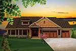 Ranch House Plan Front of Home - 051D-0657 | House Plans and More