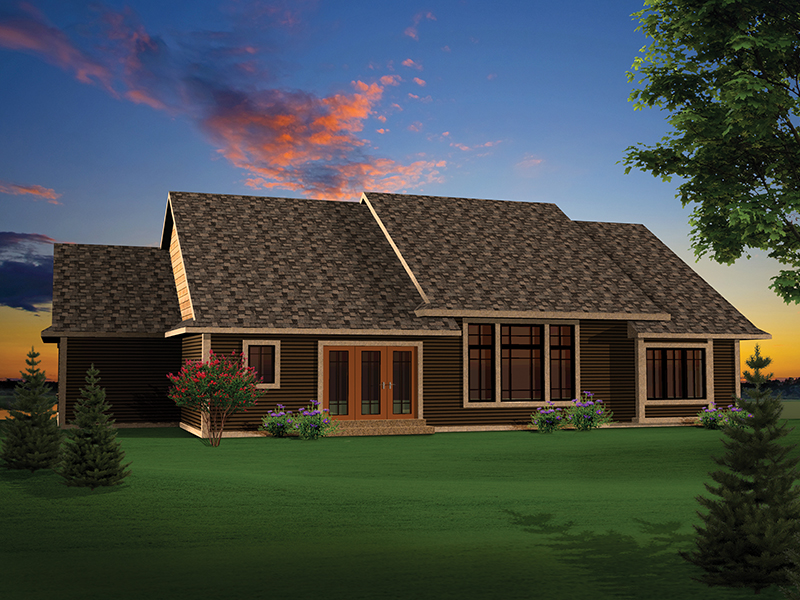 Ranch House Plan Rear Photo 01 - 051D-0657 | House Plans and More