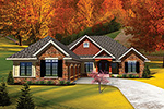 Ranch House Plan Front of Home - 051D-0658 | House Plans and More
