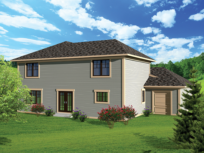 Traditional House Plan Rear Photo 01 - 051D-0659 | House Plans and More