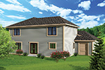 Craftsman House Plan Rear Photo 01 - 051D-0659 | House Plans and More