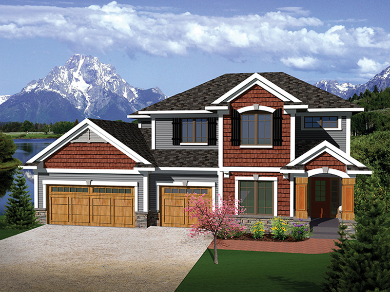 Arts & Crafts House Plan Front of Home - 051D-0661 | House Plans and More