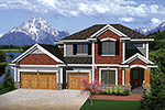 Craftsman House Plan Front of Home - 051D-0661 | House Plans and More