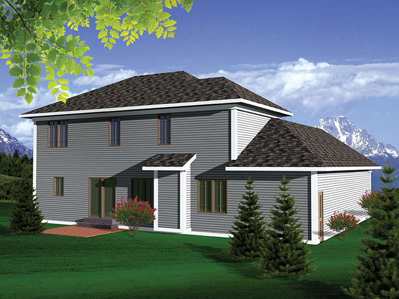 Arts & Crafts House Plan Rear Photo 01 - 051D-0661 | House Plans and More