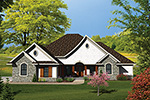 Santa Fe House Plan Front of Home - 051D-0662 | House Plans and More