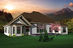 Santa Fe House Plan Rear Photo 01 - 051D-0662 | House Plans and More