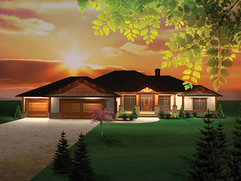 Ranch House Plan Front Of Home