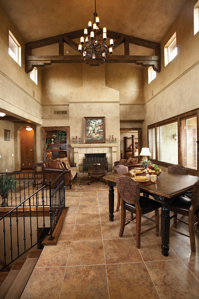 Rustic Home Plan Great Room Photo 01 051D-0669