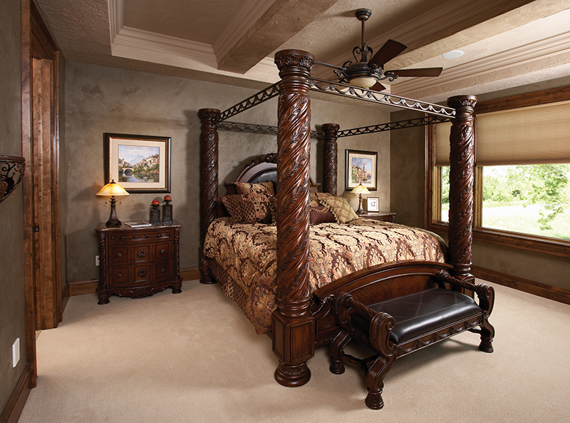 Rustic Home Plan Master Bedroom Photo 01 051D-0669