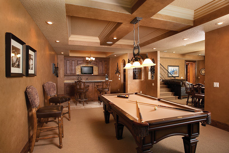 Rustic Home Plan Recreation Room Photo 01 051D-0669