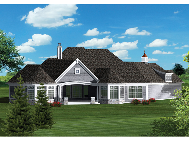 Craftsman House Plan Rear Photo 01 - 051D-0670 | House Plans and More