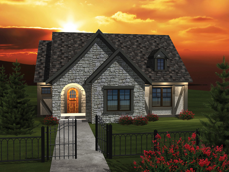 Ranch House Plan Front of Home - 051D-0671 | House Plans and More