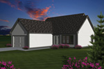 Ranch House Plan Color Image of House - 051D-0671 | House Plans and More