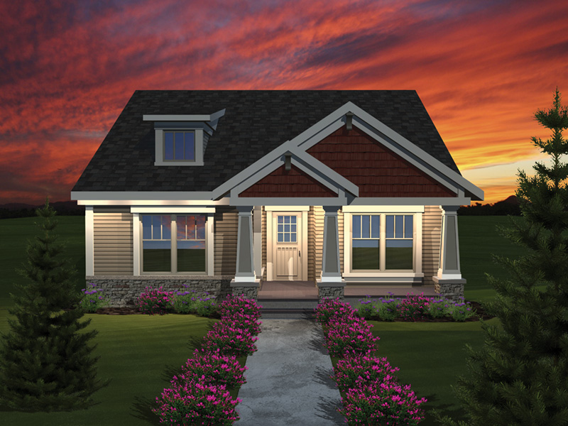 Country House Plan Front of Home 051D-0672