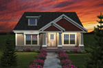 Craftsman House Plan Front of Home - 051D-0672 | House Plans and More