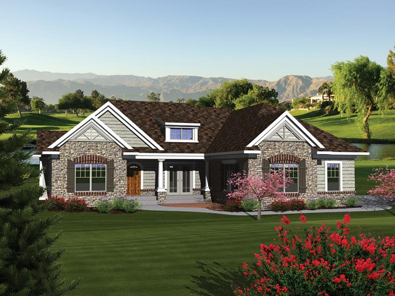Bellarmine European Ranch Home Plan 051D 0676 House