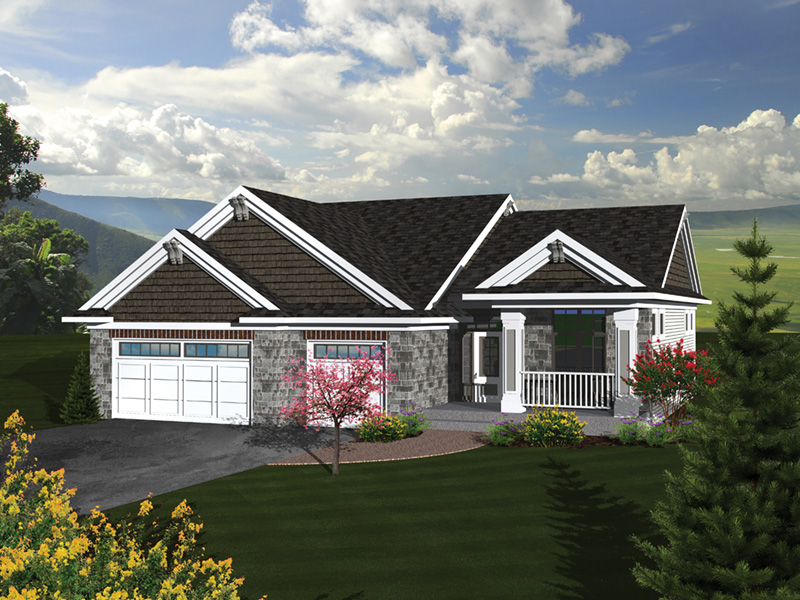 Cadford traditional ranch home plan 051d 0678 house for Traditional craftsman house plans