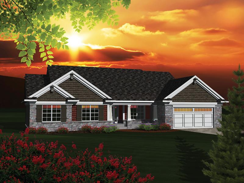 Ridgecrest Rustic Ranch Home Plan 051d 0680 House Plans