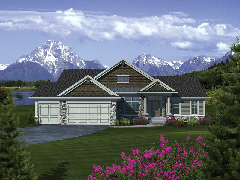dranlake craftsman ranch home plan 051d-0682 | house plans and more