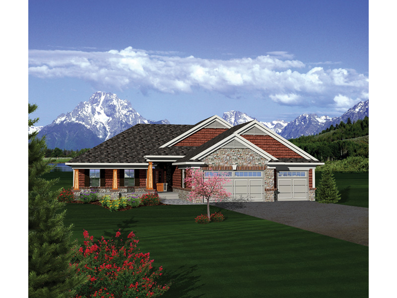Dobford Craftsman Ranch Home Plan 051d 0684 House Plans