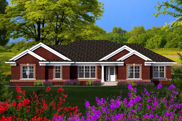 Rossee traditional ranch home plan 051d 0717 house plans for Traditional ranch home plans