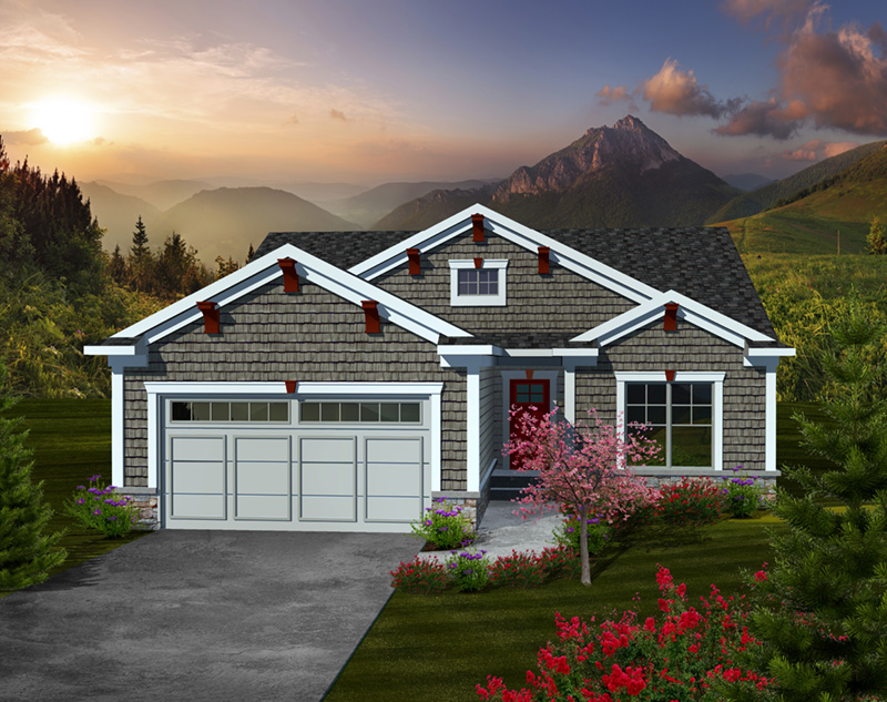 shingle house plan front of home 051d 0736 house plans and more - Craftsman House Plans