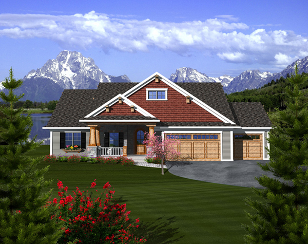 Watford hill rustic home plan 051d 0738 house plans and more for 3 car garage square footage