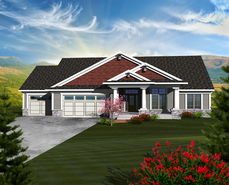 Arts & Crafts House Plan Front of Home - 051D-0750 | House Plans and More