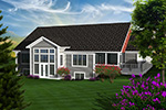 Arts & Crafts House Plan Rear Photo 01 - 051D-0750 | House Plans and More