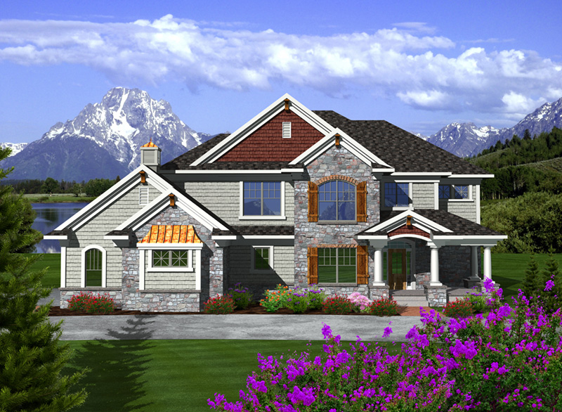Country House Plan Front of Home - 051D-0751 | House Plans and More