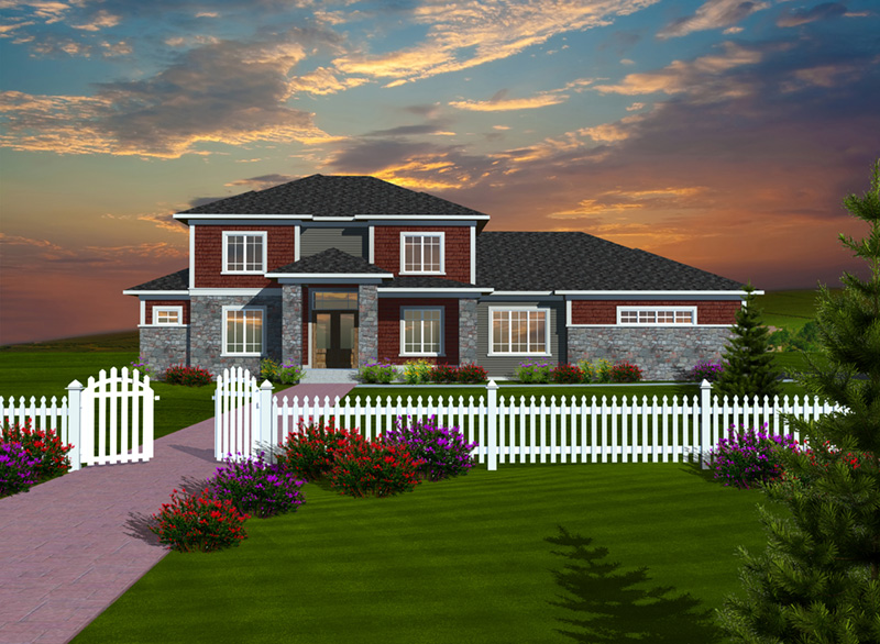 Traditional House Plan Front of Home - 051D-0753 | House Plans and More