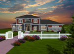 Prairie Style Floor Plan Front of Home - 051D-0753 | House Plans and More