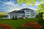 Prairie Style Floor Plan Rear Photo 01 - 051D-0753 | House Plans and More