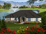 Sunbelt Home Plan Front of Home - 051D-0754 | House Plans and More