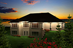Sunbelt Home Plan Rear Photo 01 - 051D-0754 | House Plans and More