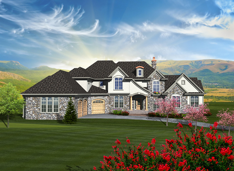 Luxury House Plan Front of Home - 051D-0755 | House Plans and More