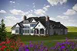 Luxury House Plan Rear Photo 01 - 051D-0755 | House Plans and More