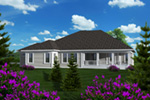 Craftsman House Plan Rear Photo 01 - 051D-0762 | House Plans and More