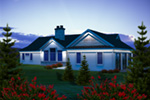 Baywood Shingle Ranch Home Plan 051d 0764 House Plans