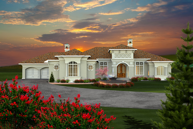 Florida House Plan Front of Home - 051D-0768 | House Plans and More