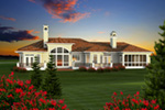 Florida House Plan Rear Photo 01 - 051D-0768 | House Plans and More