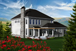Luxury House Plan Rear Photo 01 - 051D-0769 | House Plans and More