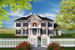 Georgian House Plan Front of Home - 051D-0770 | House Plans and More