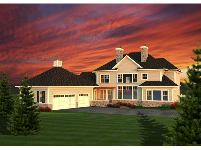 Georgian House Plan Rear Photo 01 - 051D-0770 | House Plans and More