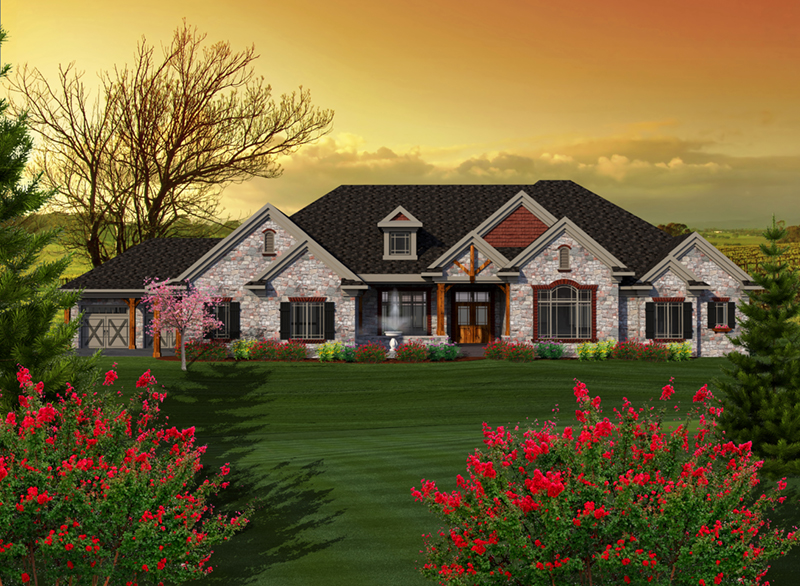 Stillman luxury ranch home plan 051d 0772 house plans for Executive ranch homes