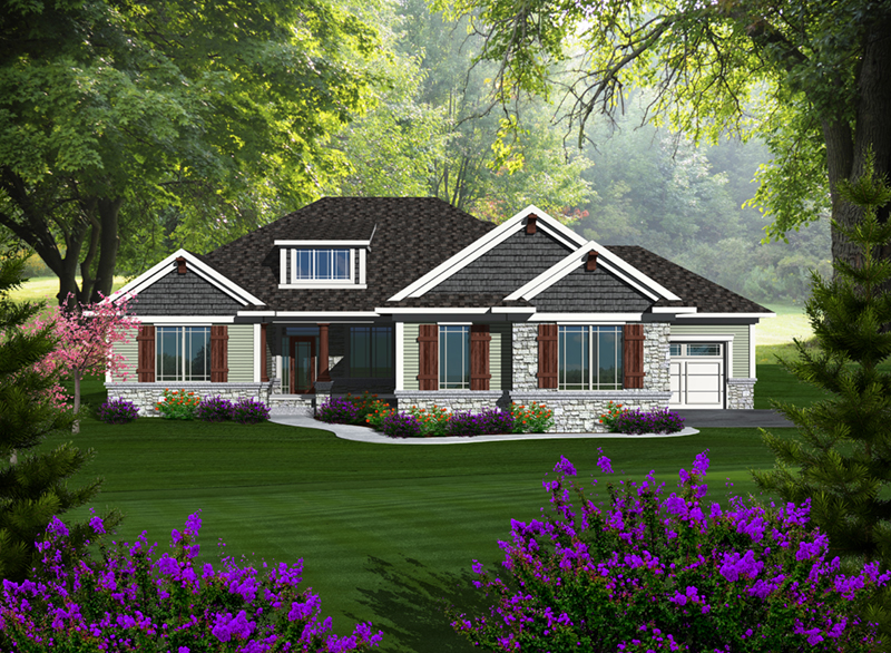 Ranch House Plan Front of Home - 051D-0775 | House Plans and More
